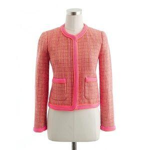 J Crew Plaid Boucle Tweed Jacket